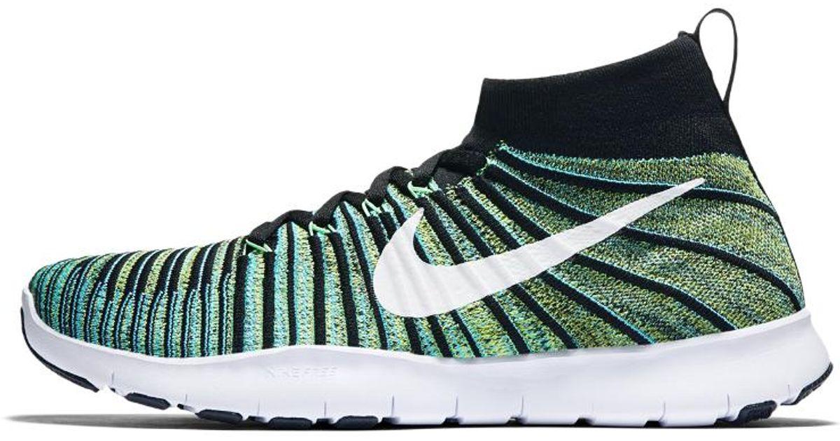 755e4060d118 Lyst - Nike Free Train Force Flyknit Men s Training Shoe in Green for Men