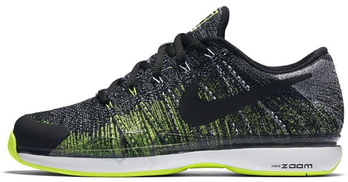 93863070da03 Lyst - Nike Court Zoom Vapor Flyknit Hard Court Men s Tennis Shoe in Black  for Men