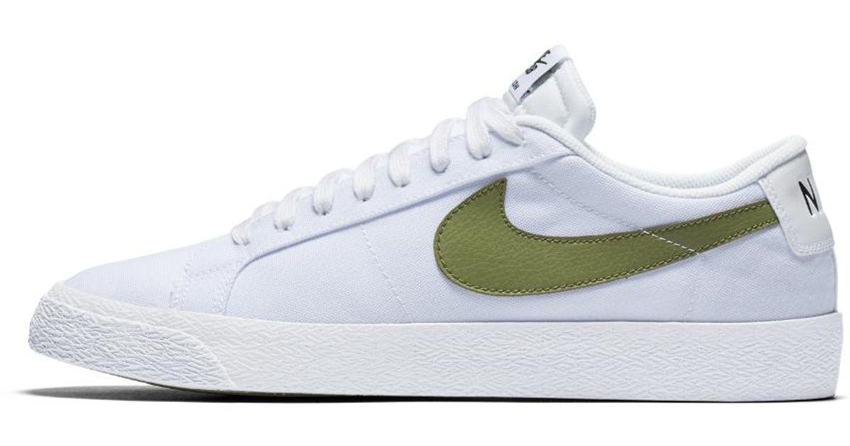 online store 78214 ecca1 ... zoom low white palm 8bef9 3f4a6  greece lyst nike sb blazer low canvas  mens skateboarding shoe in white for men ae483 0929c