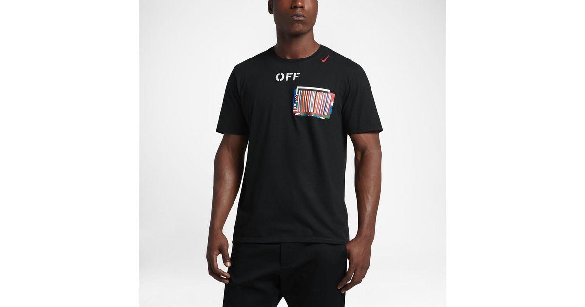 1038913e Nike Lab X Off-white Equality Men's T-shirt in Black for Men - Lyst