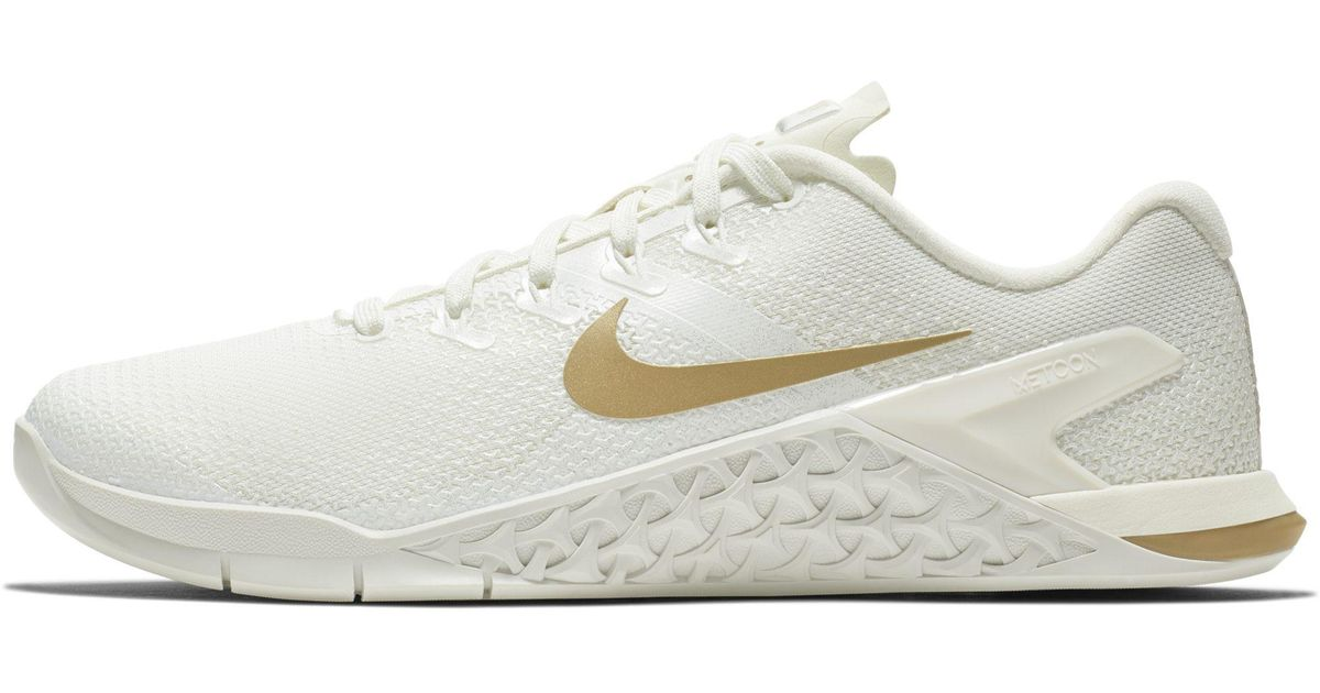 7ab69de0cac3b Nike Metcon 4 Champagne Cross-training/weightlifting Shoe in White - Lyst