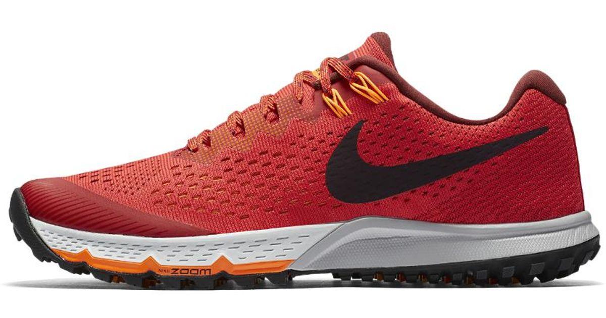 b42cc6869c576 ... france lyst nike air zoom terra kiger 4 mens running shoe in red for men  b3704