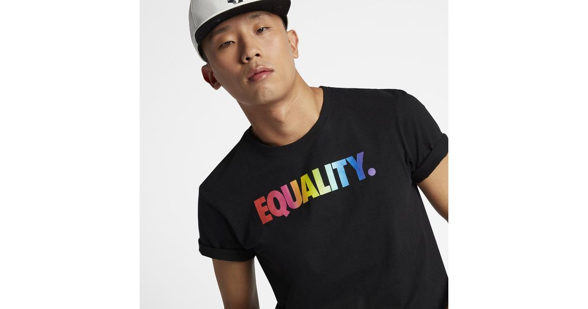 60f2389e Nike Equality Betrue Men's T-shirt in Black for Men - Lyst