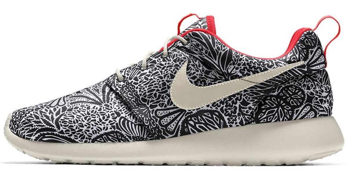 newest collection 9c6c9 59264 ... wholesale lyst nike roshe one premium liberty london id womens shoe in  pink fa1de b85e4