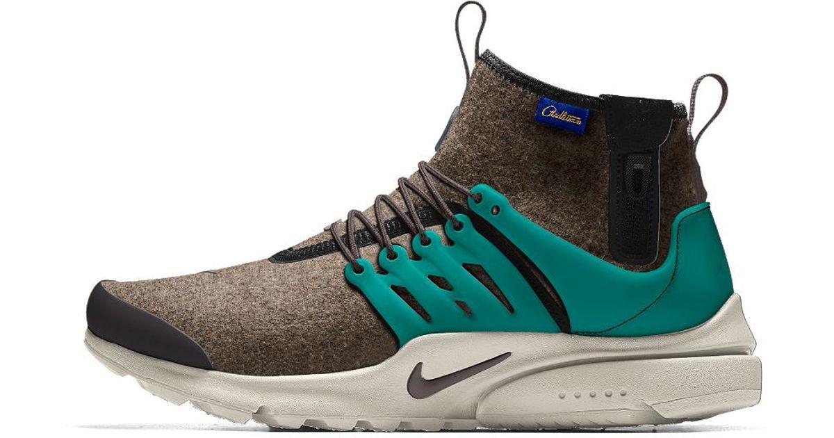buy online 8d6bc dfb39 Nike Air Presto Mid Utility Premium Id Men s Shoe for Men - Lyst