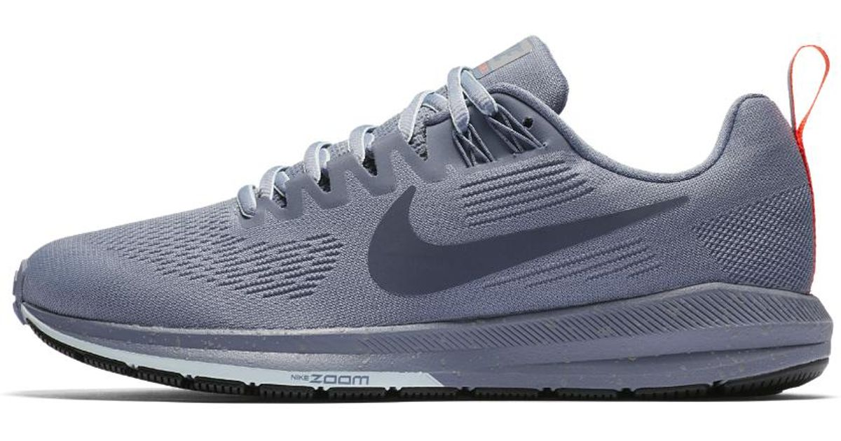 best cheap df4a3 3661c Lyst - Nike Air Zoom Structure 21 Shield Women s Running Shoe in Blue