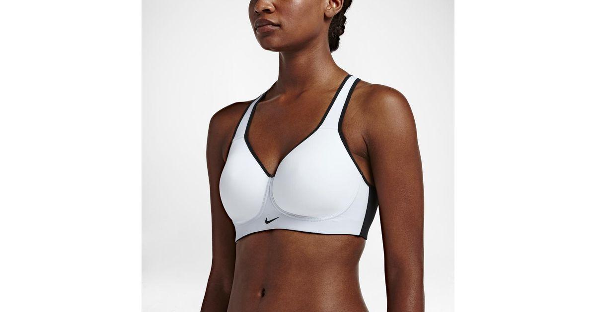 ac41365e5b4 Nike - White Pro Rival Women's High Support Sports Bra - Lyst
