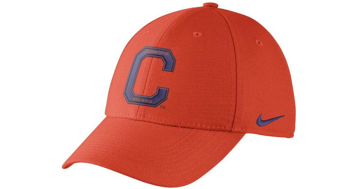 db314071 Lyst - Nike College Dri-fit Swoosh Flex (clemson) Fitted Hat in Orange for  Men
