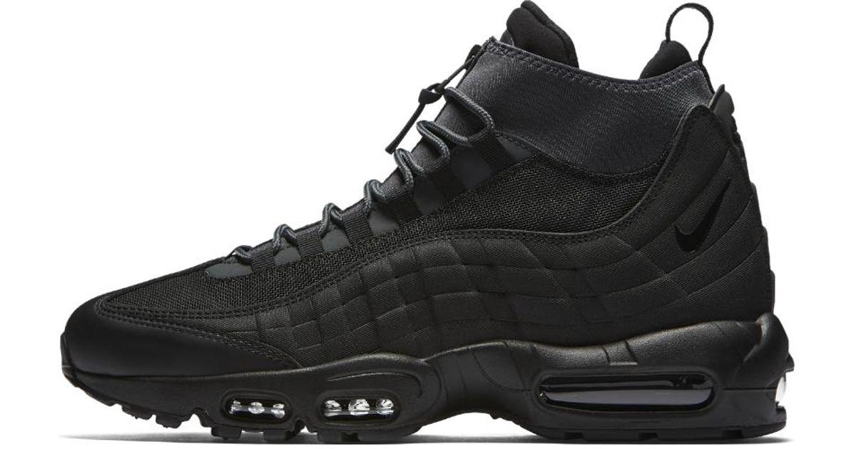 new product 1d836 6345e Nike Air Max 95 Sneakerboot Men s Boot in Black for Men - Lyst