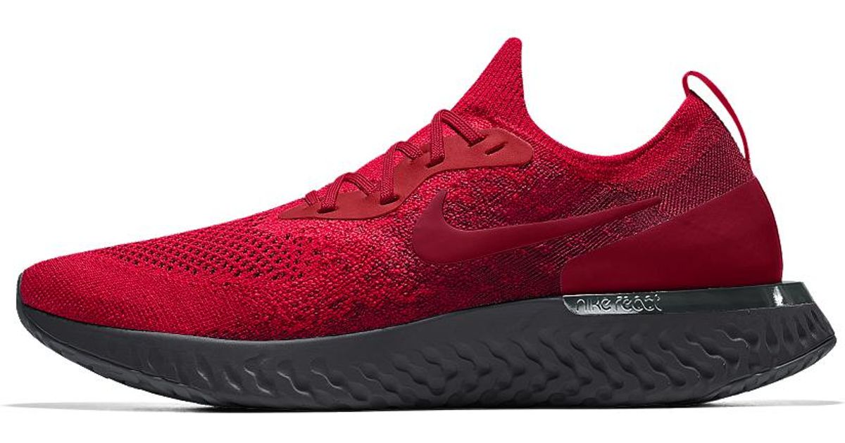 ab3e2e110c45 ... netherlands lyst nike epic react flyknit premium id mens running shoe  in red for men 7ade7 ...