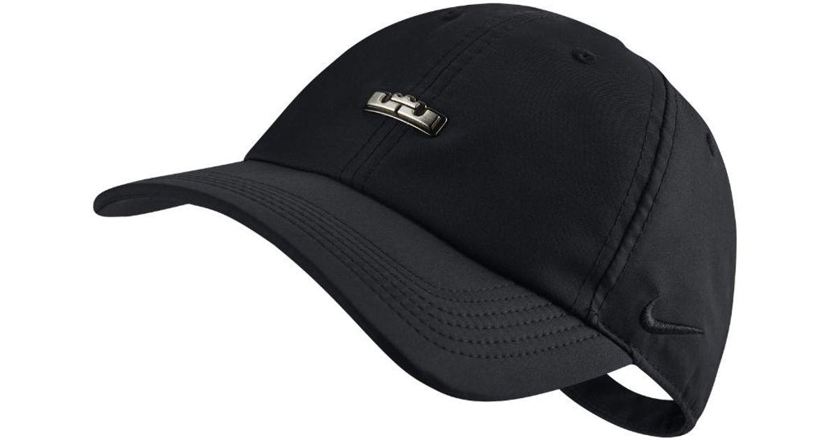 4e3928f5 Nike Lebron Heritage 86 Qs Adjustable Hat (black) in Black for Men - Lyst