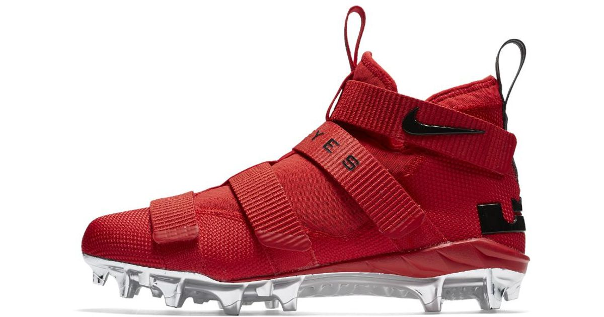 sale retailer a6cb1 c5d27 Nike Lebron Soldier 11 College (ohio State) Men s Football Cleat in Red for  Men - Lyst