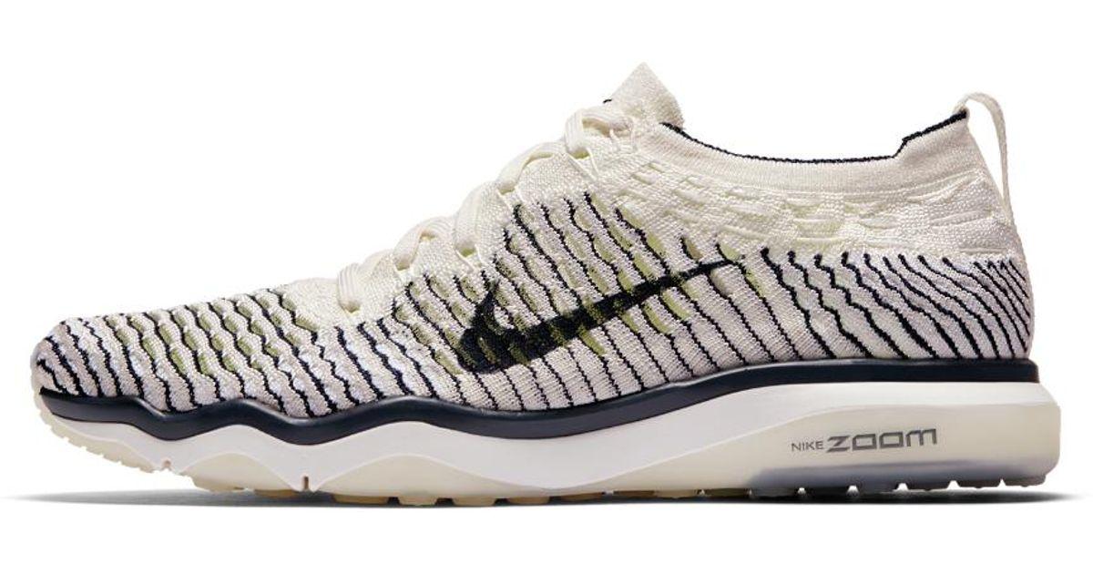 b62ea431f6b Lyst - Nike Air Zoom Fearless Flyknit Indigo Women s Training Shoe in White