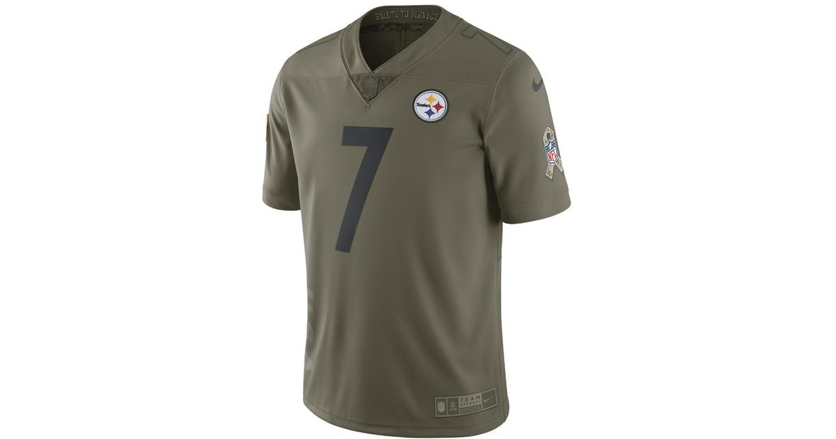 outlet store sale ab10b 5d98f Nike - Green Nfl Steelers Limited Sts (ben Roethlisberger) Men's Football  Jersey for Men - Lyst