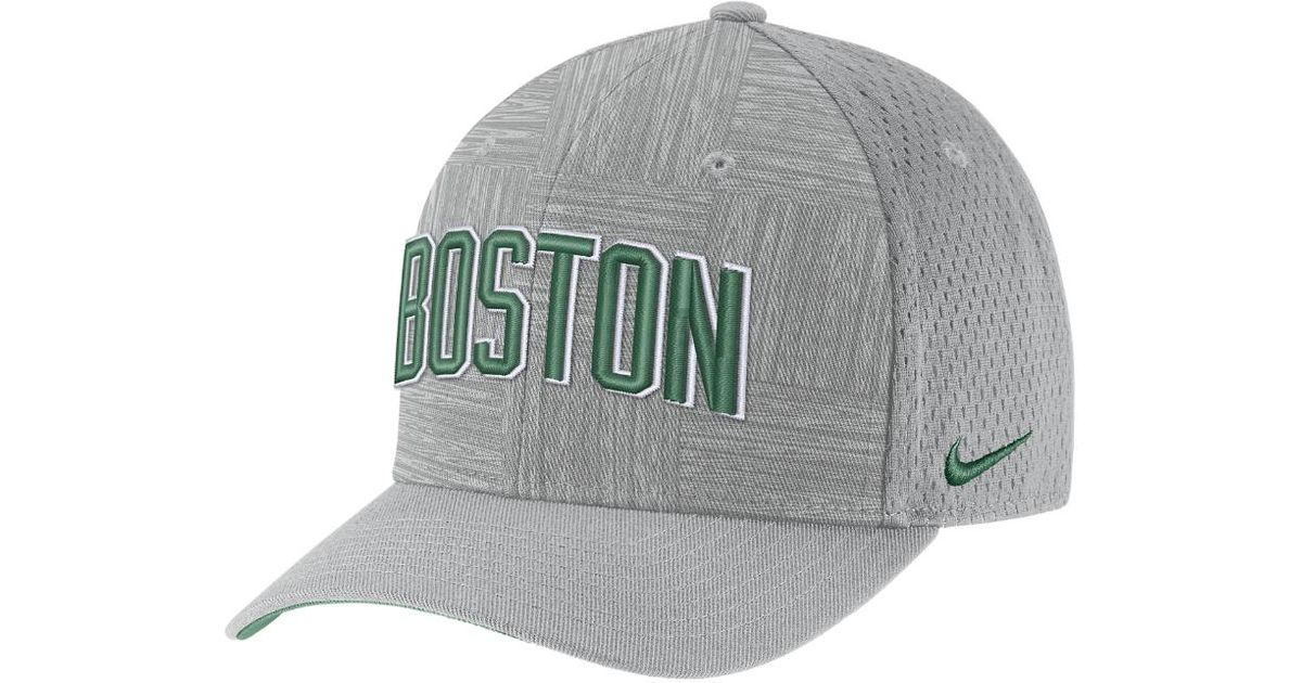 the best attitude 3f654 eef1a Nike Boston Celtics City Edition Classic99 Nba Hat (silver) in Metallic for  Men - Lyst