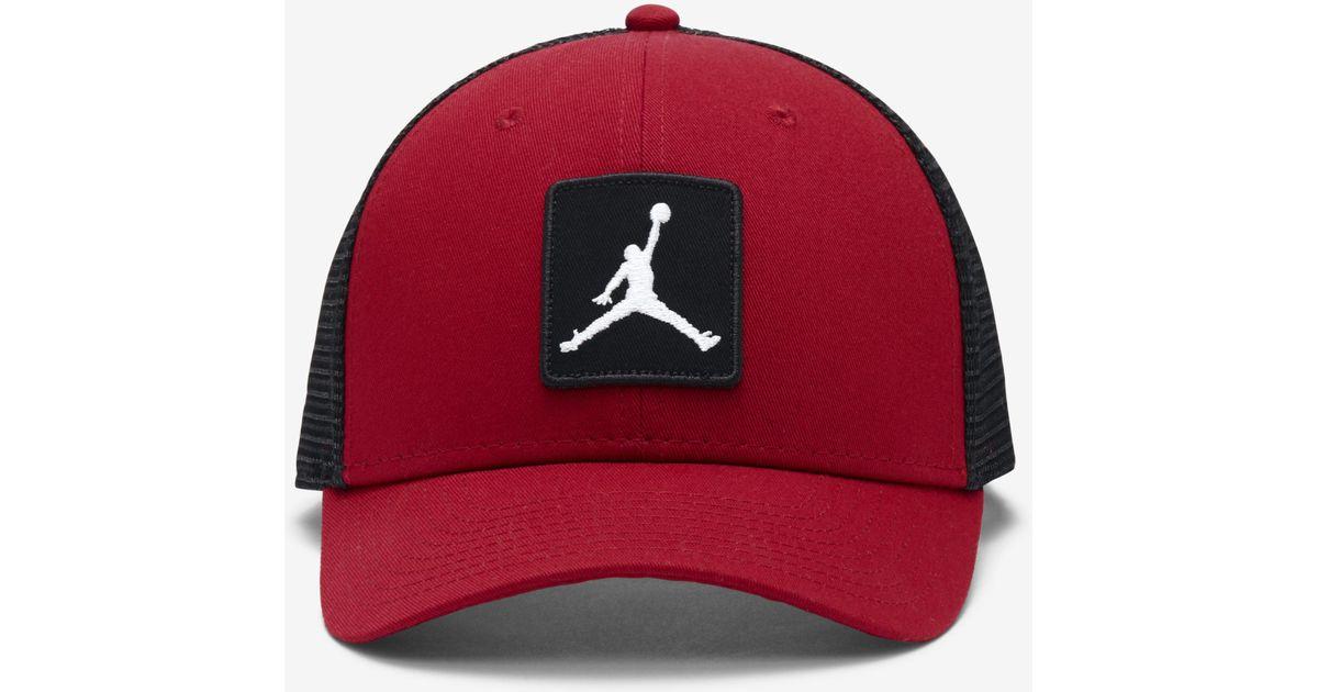 456c2ff89589e9 Nike Jordan Jumpman Classic99 Trucker Adjustable Hat in Red for Men - Lyst