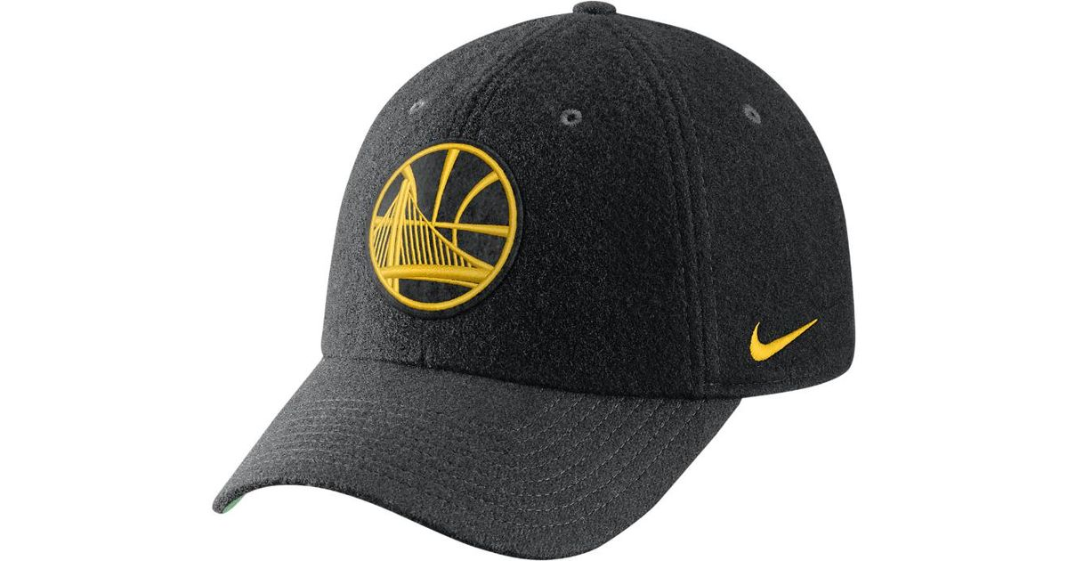 8d12b1cfc8f Lyst - Nike Golden State Warriors Heritage86 Nba Hat (black) in Black for  Men