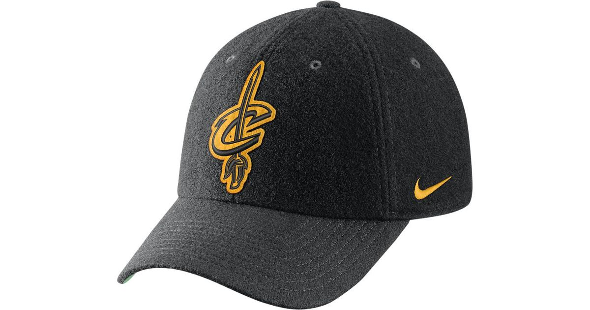 0c8a5802c33 Lyst - Nike Cleveland Cavaliers Heritage86 Nba Hat (black) in Black for Men