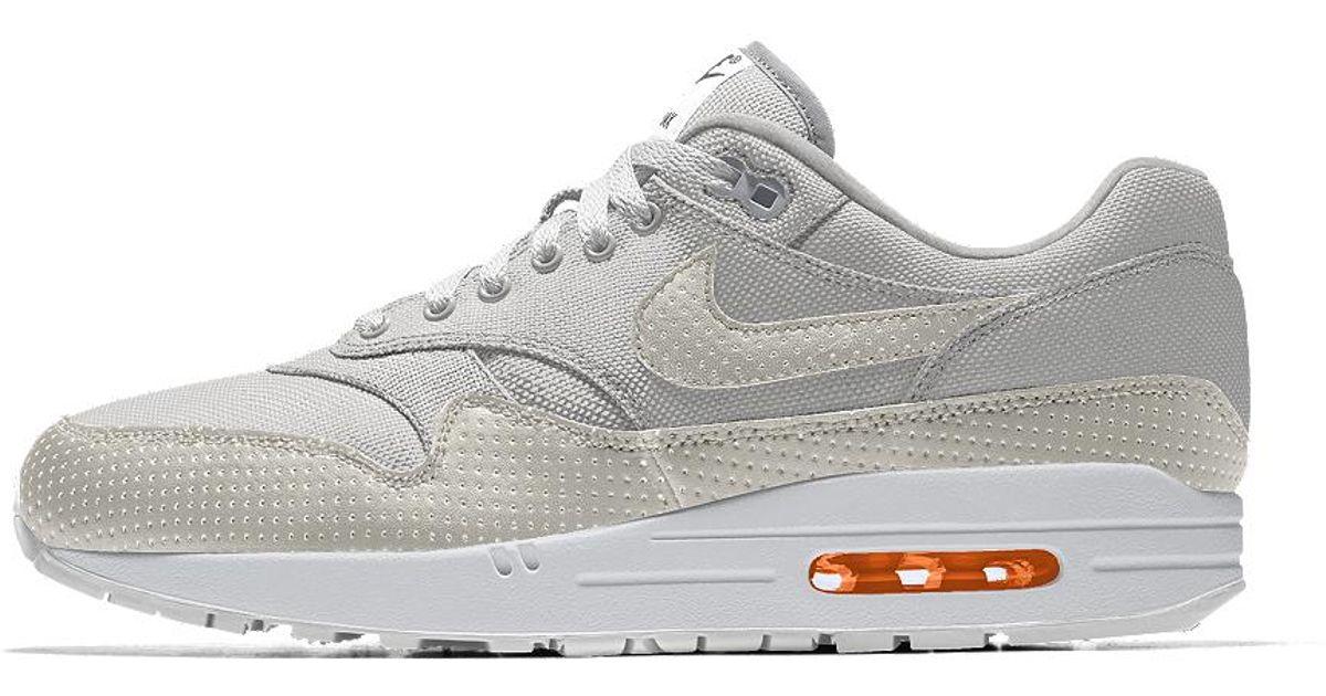 online store 021c9 55c19 Lyst - Nike Air Max 1 Premium Id Men s Shoe in White for Men