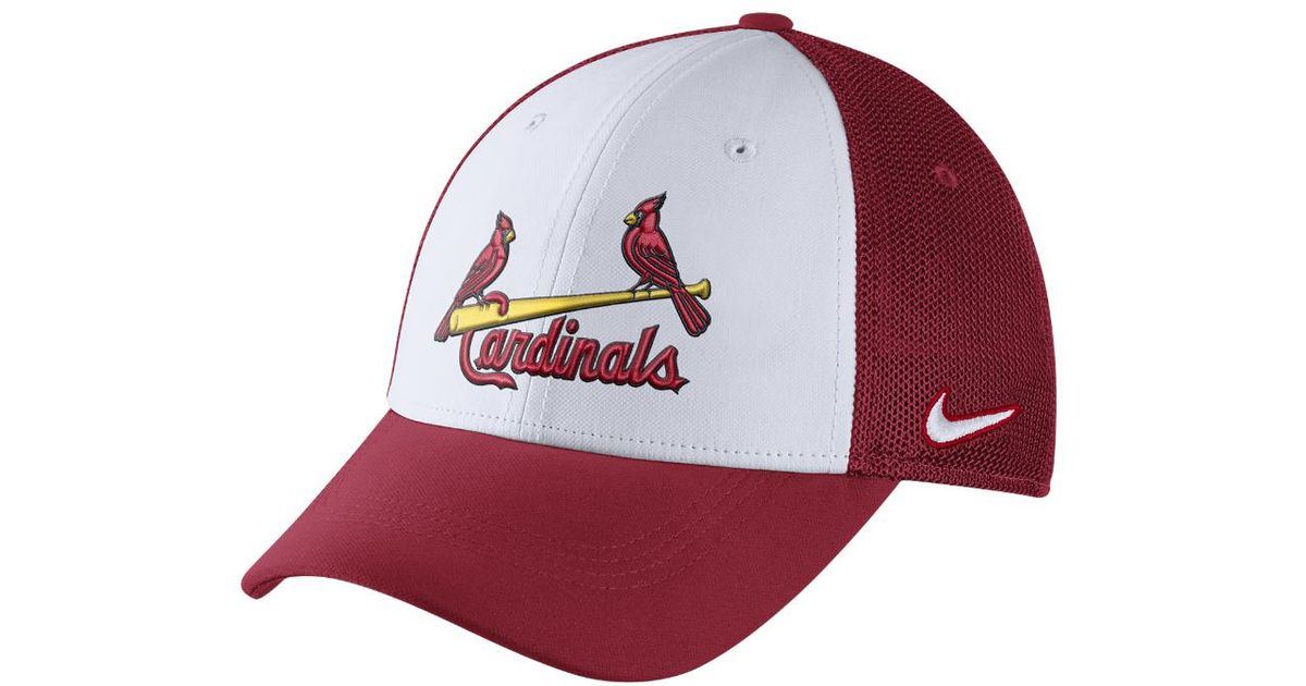 2504010f899 Lyst - Nike Mesh Back Swoosh Flex (mlb Cardinals) Fitted Hat in Red for Men