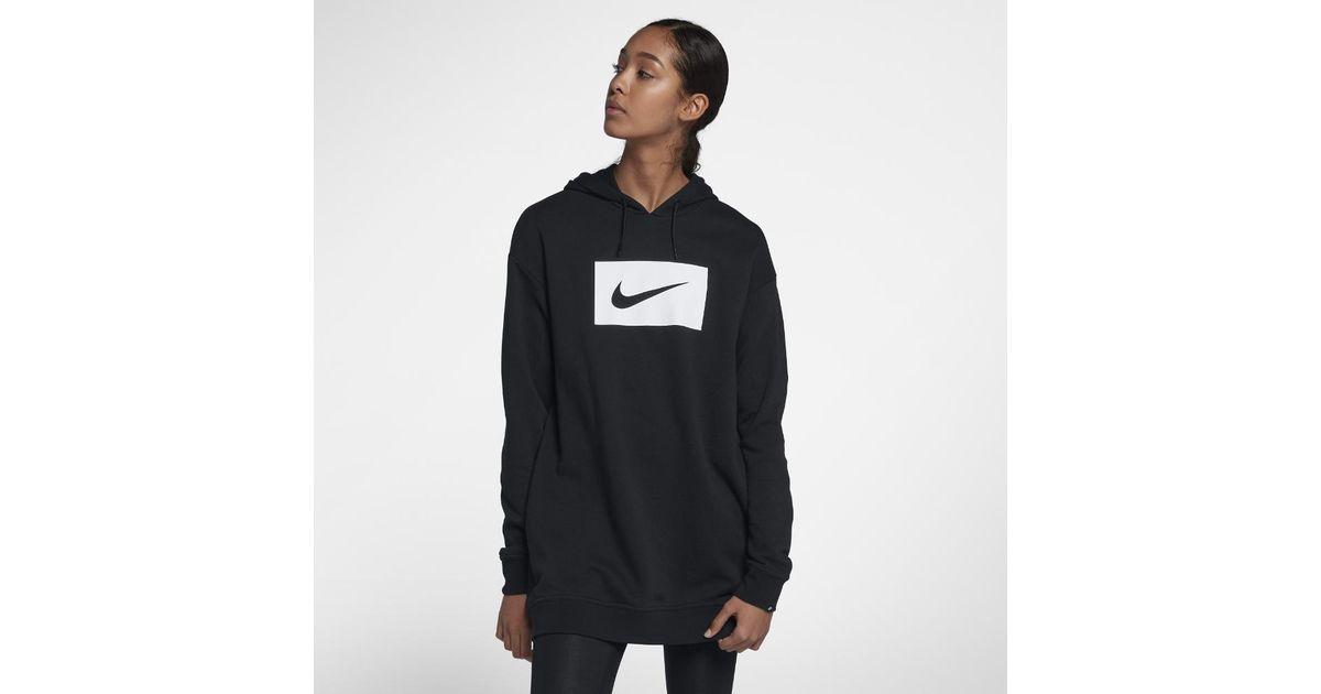 fa4765460b06 Lyst - Nike Sportswear Swoosh Women s Hoodie in Black