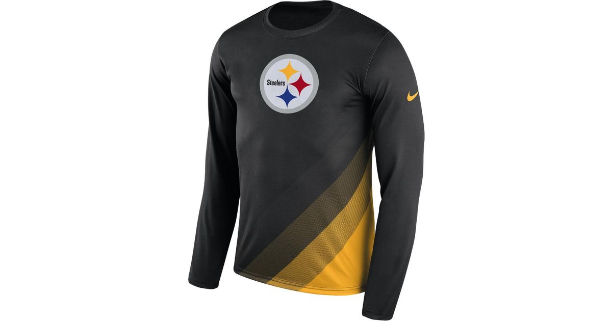 4b2ab1a9 Lyst - Nike Dry Legend Prism (nfl Steelers) Men's Long Sleeve T-shirt in  Black for Men