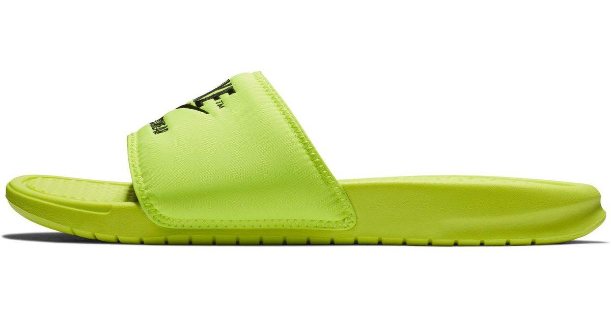 c425a55c87a Lyst - Claquette Benassi JDI TXT SE pour Homme Nike pour homme en coloris  Jaune