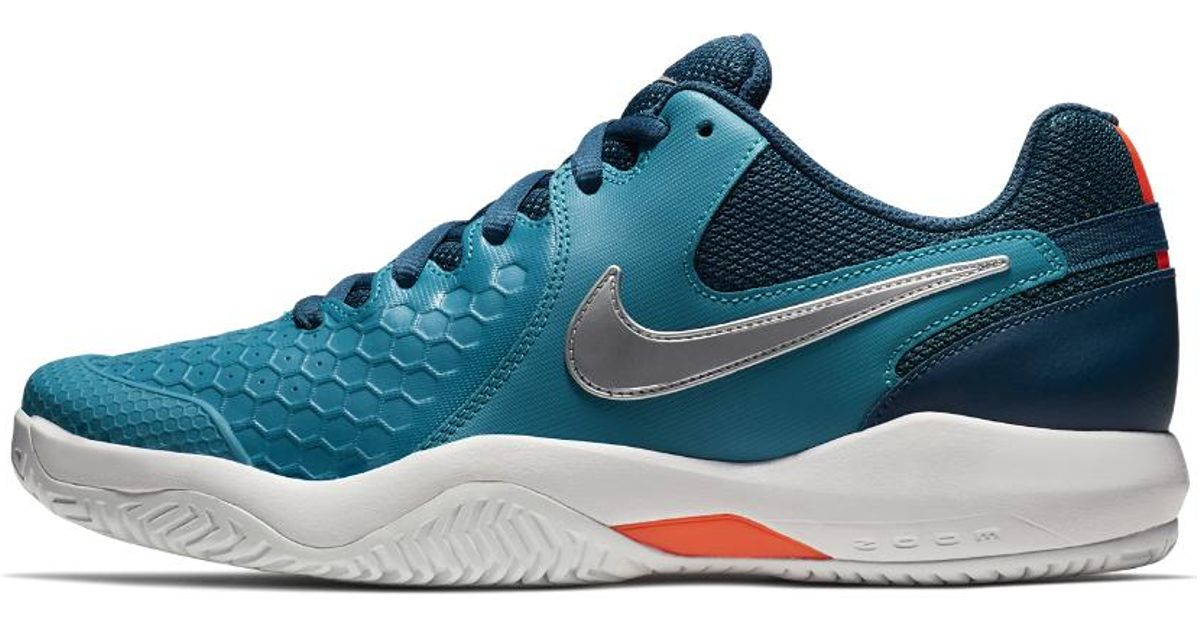 new product 12459 8ae86 Nike Court Air Zoom Resistance Hc Men s Tennis Shoe in Blue for Men - Lyst