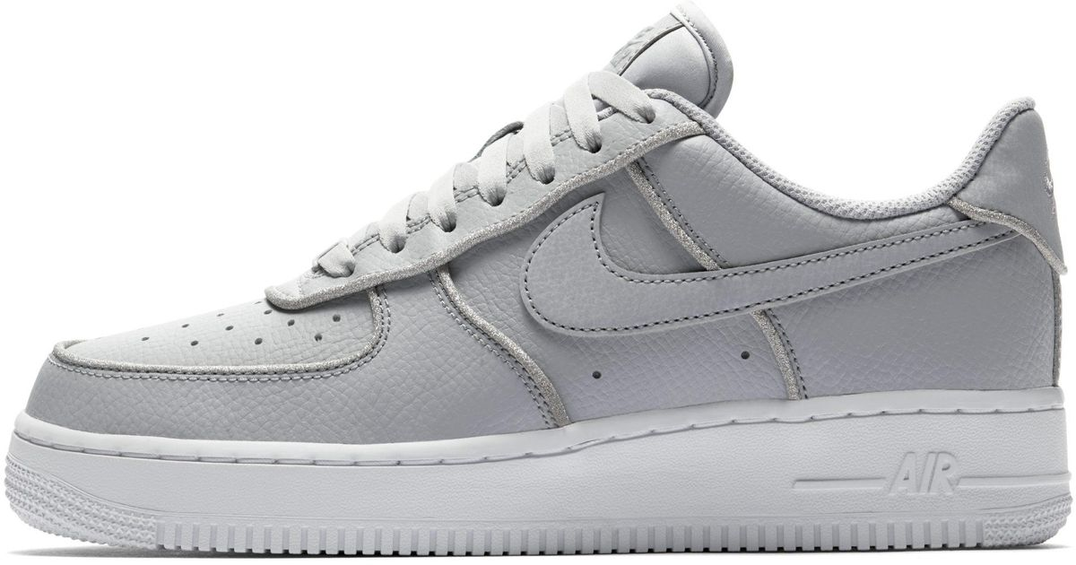 cheap for discount cba4a 5ed07 Nike Air Force 1 Low Glitter Shoe in Gray - Lyst