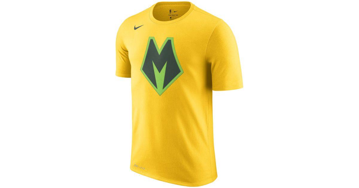 Nike Milwaukee Bucks City Edition Dri-fit Nba T-shirt in Yellow for Men -  Lyst fea881297