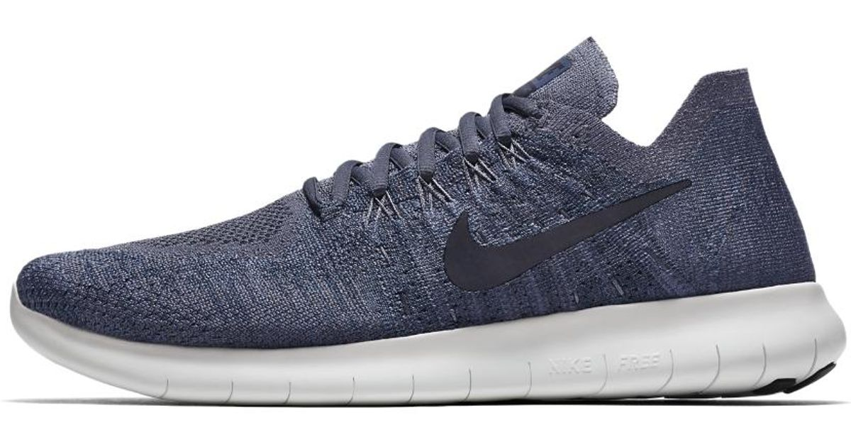 dcc8a7a145ad Lyst - Nike Free Rn Flyknit 2017 Men s Running Shoe in Blue for Men