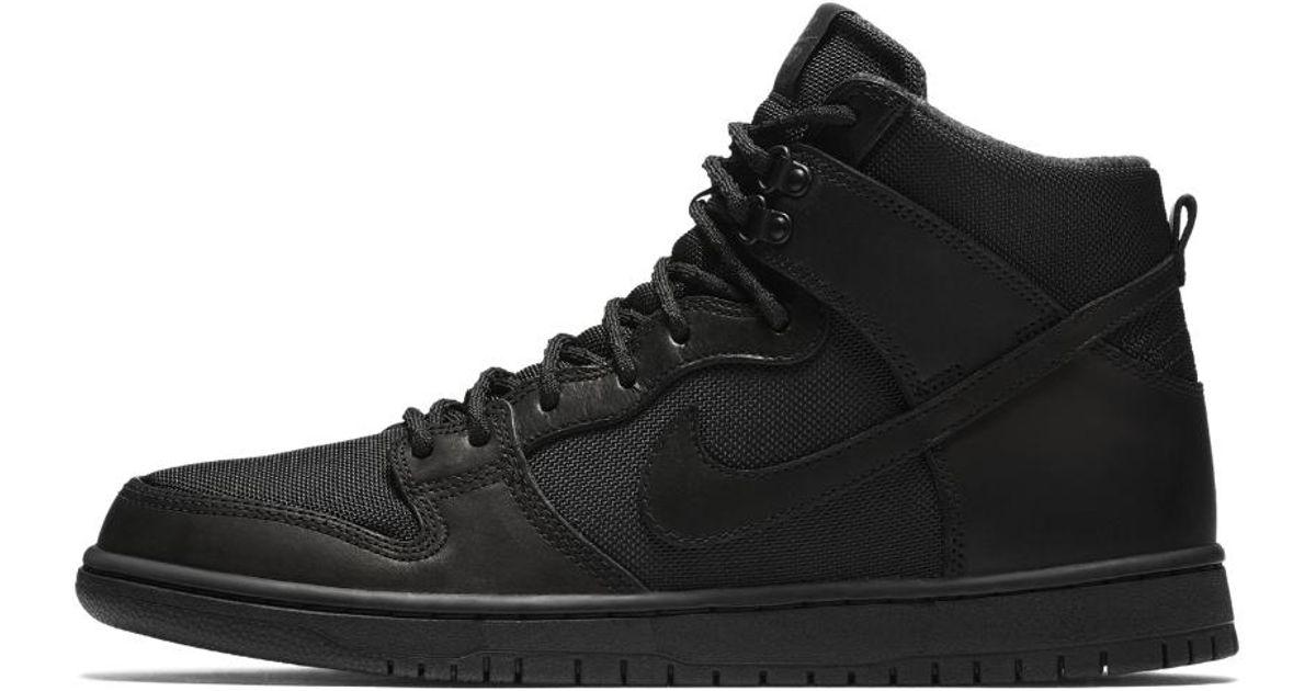 a01cc3b67d1a Lyst - Nike Sb Dunk Hi Pro Bota Men s Skateboarding Shoe in Black for Men