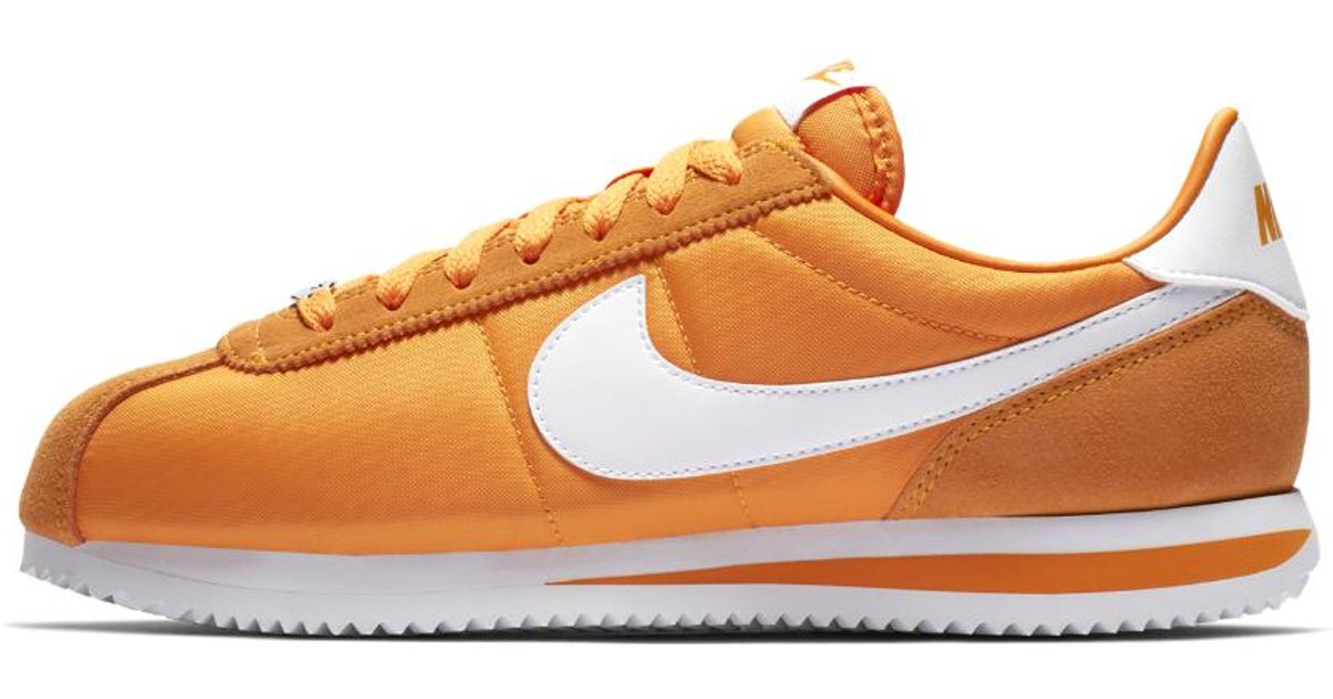01d1764a1c65f ... shopping lyst nike cortez basic se mens shoe in orange for men 80881  330bd