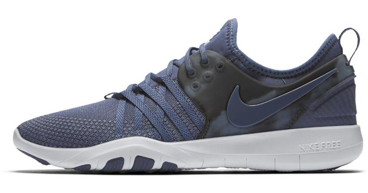 Lyst - Nike Free Tr 7 Amp Women s Training Shoe in Blue 7b3a4641a