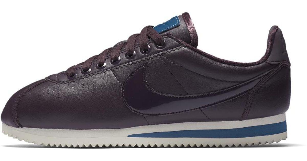 buy popular 16d2c b4d01 Lyst - Nike Classic Cortez Se Premium Nocturne Women s Shoe in Blue