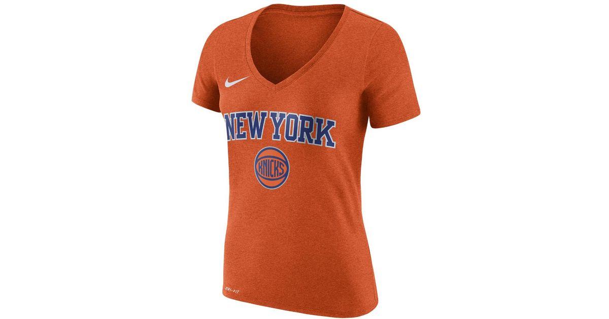93859a70 Lyst - Nike New York Knicks Dry Women's Nba T-shirt in Orange
