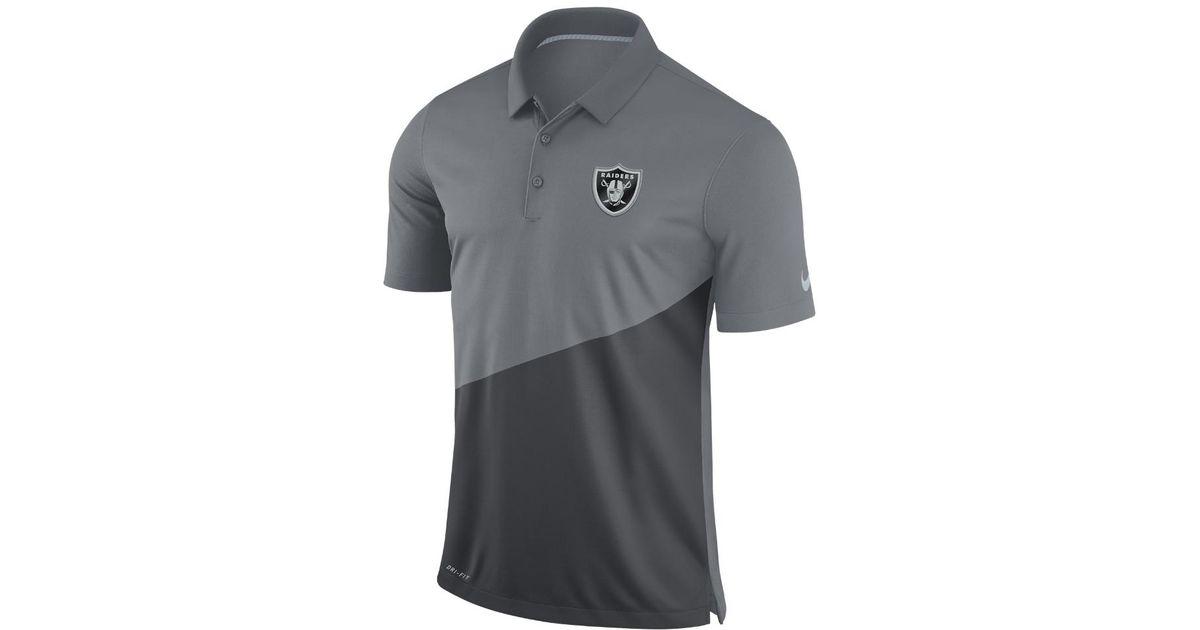caffa6d28 Lyst - Nike Stadium (nfl Raiders) Men's Polo Shirt in Gray for Men