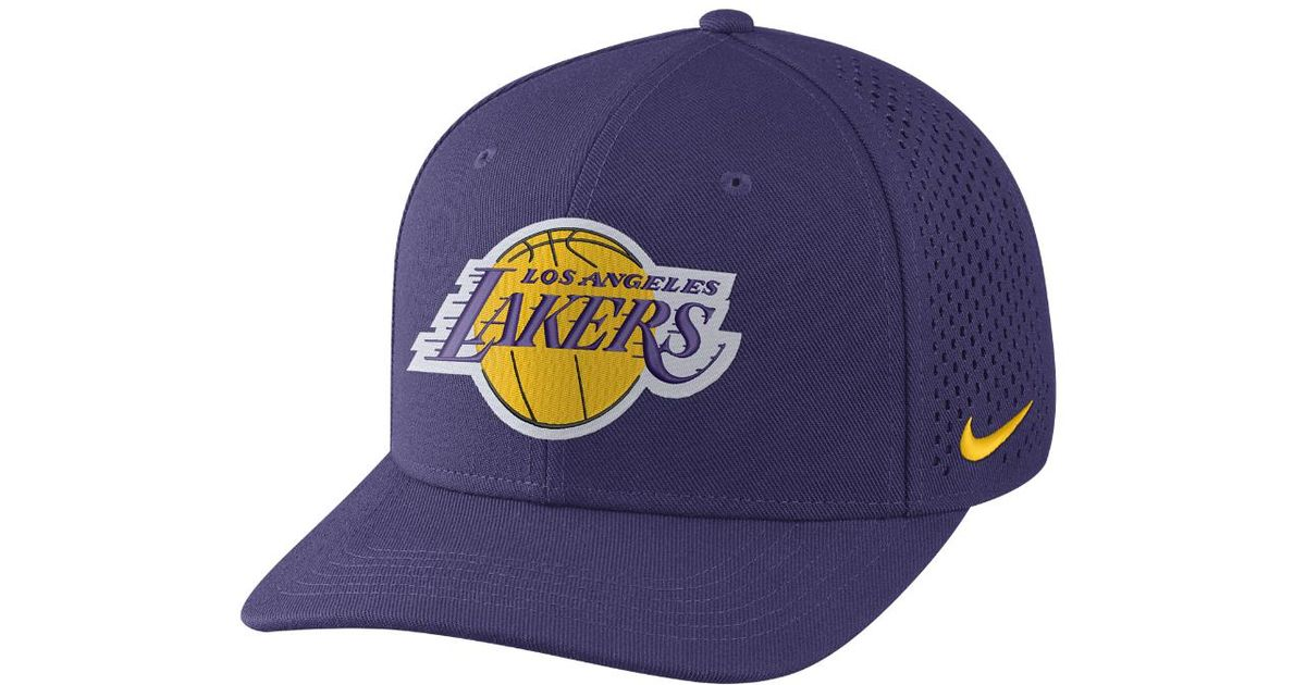 04bea57ac14a2 ... cheap lyst nike los angeles lakers aerobill classic99 adjustable nba hat  purple in purple for men