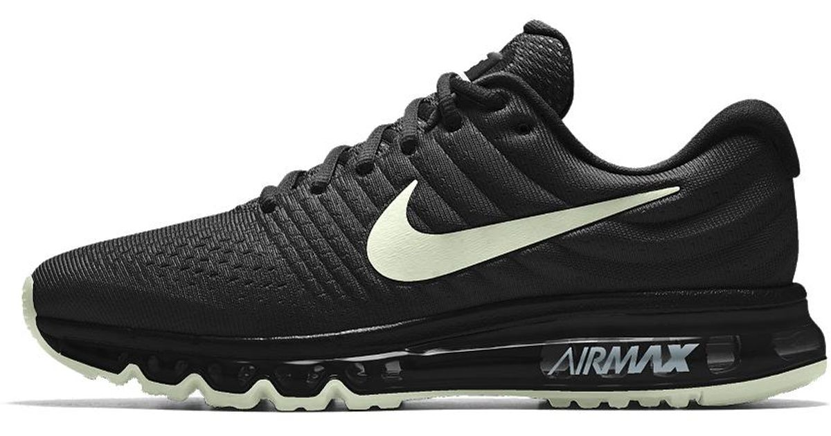 save off a3e7d e968f Lyst - Nike Air Max 2017 Id Mens Running Shoe in Black for M