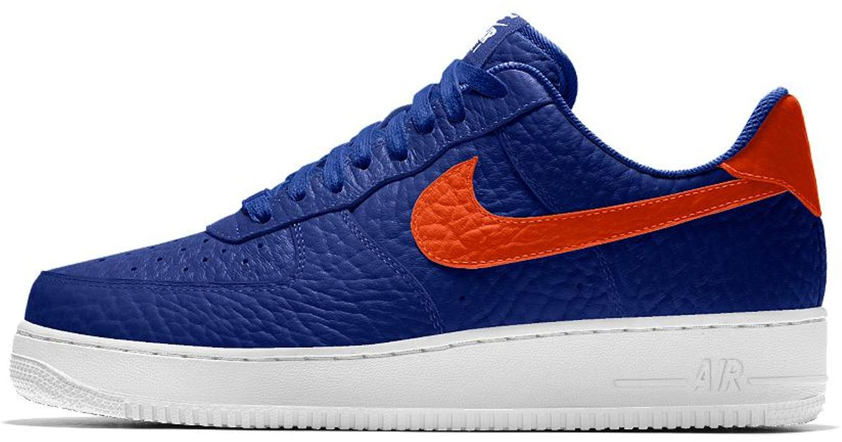 7f6cfc76205a Lyst - Nike Air Force 1 Low Premium Id (new York Knicks) Men s Shoe in Blue  for Men