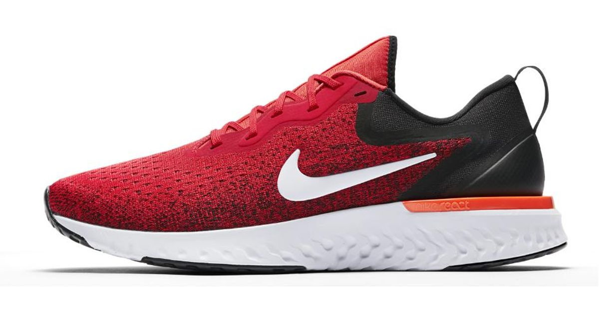 80f3a6b1b43 Lyst - Nike Odyssey React Men s Running Shoe in Red for Men - Save 18%
