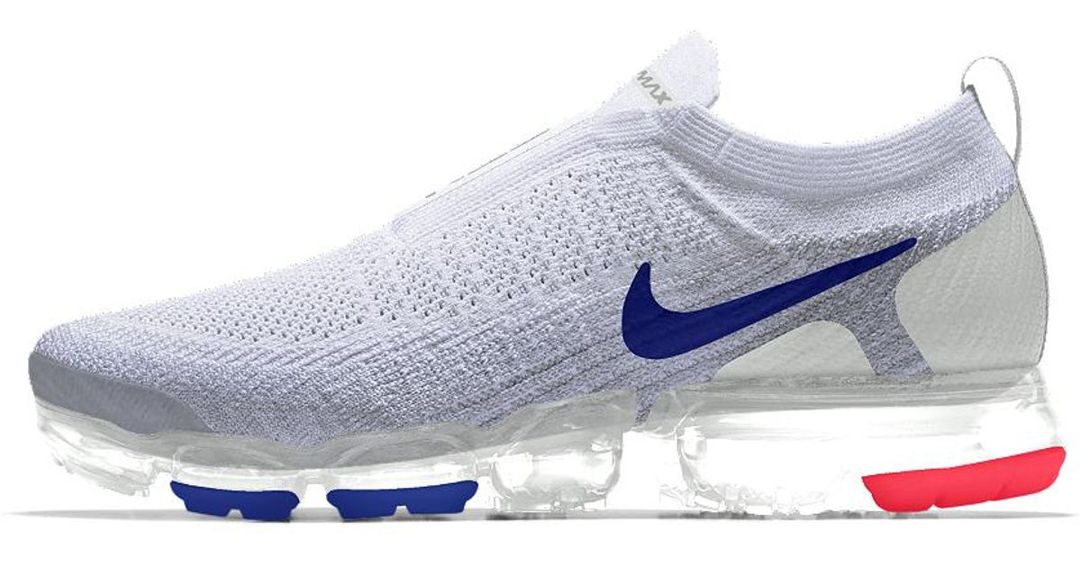 32bca4b6fdb9 Lyst - Nike Air Vapormax Flyknit Moc 2 Id Men s Running Shoe in Blue .