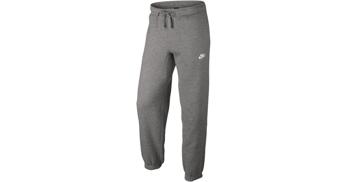 1d774e7cb7 Lyst - Pantalon en tissu Fleece coupe standard Sportswear pour Homme Nike  pour homme en coloris Gris