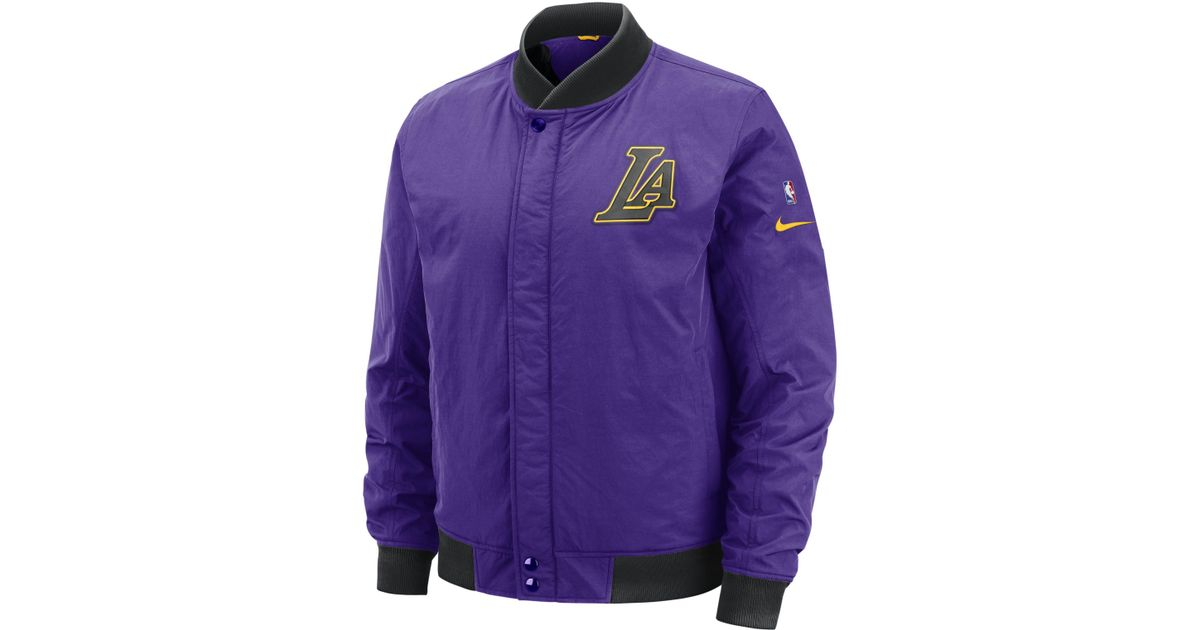 54c99be13958 Nike Los Angeles Lakers Courtside Nba Jacket in Purple for Men - Save 25% -  Lyst