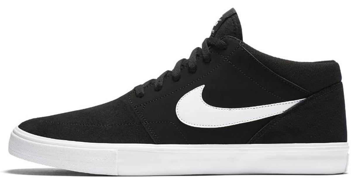 07ef023adc8b Lyst - Nike Sb Solarsoft Portmore Ii Mid Skateboarding Sneaker in Black for  Men - Save 13%