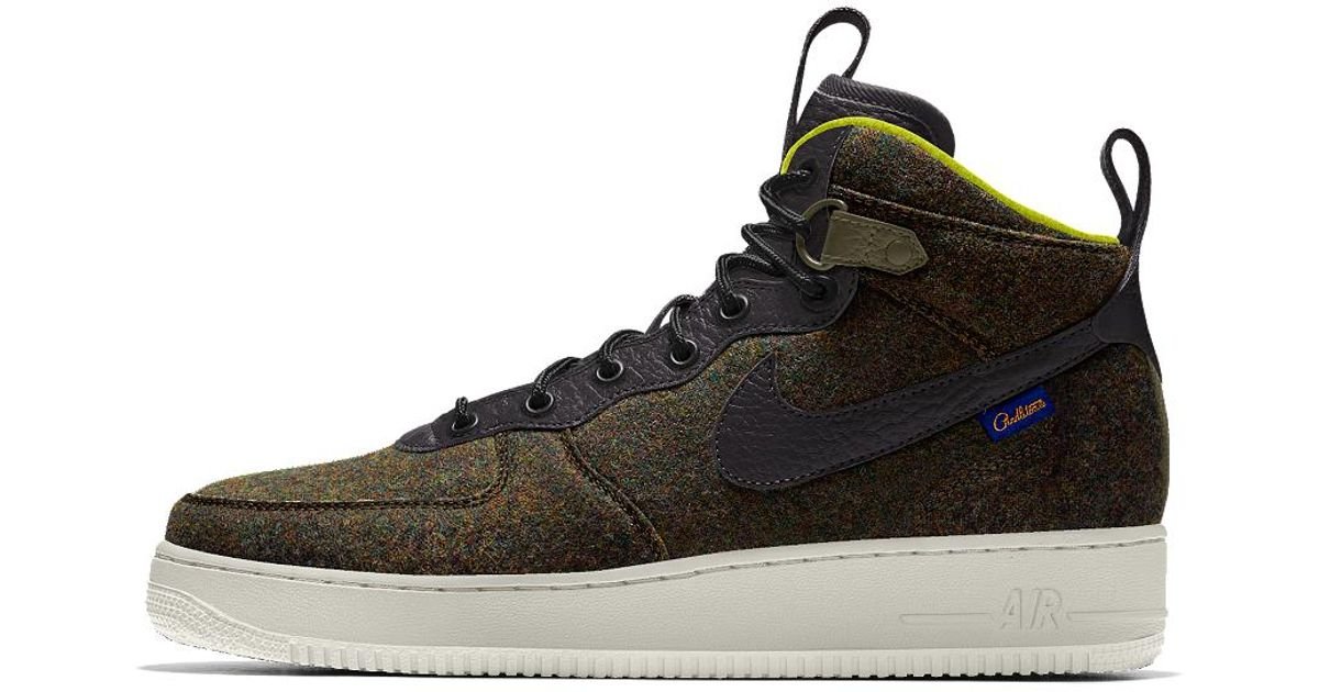 size 40 f289a 228ca Nike Air Force 1 Mid Premium Id Men's Shoe in Black for Men - Lyst