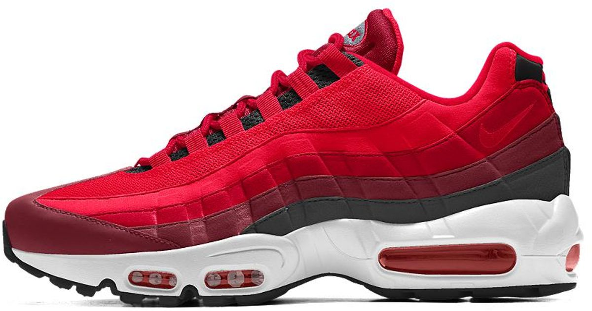 a9cd8265c1 ... Lyst - Nike Air Max 95 Id Women s Shoe in Red for Men ...