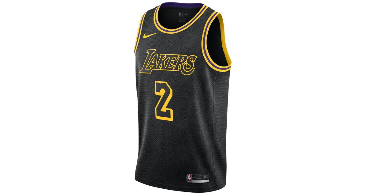 0cc97abf3b7 Nike Lonzo Ball City Edition Swingman Jersey (los Angeles Lakers) Men's Nba  Jersey in Black for Men - Lyst