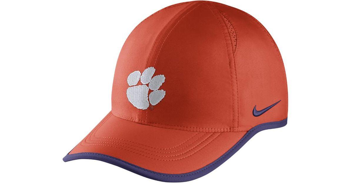 e521923b Lyst - Nike College Aerobill Featherlight (clemson) Adjustable Hat (orange)  - Clearance Sale in Orange for Men