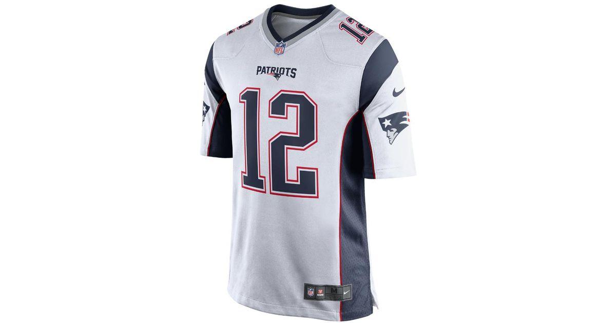 d3425494b Nike Nfl New England Patriots (tom Brady) Men's Football Away Game Jersey  in Blue for Men - Lyst